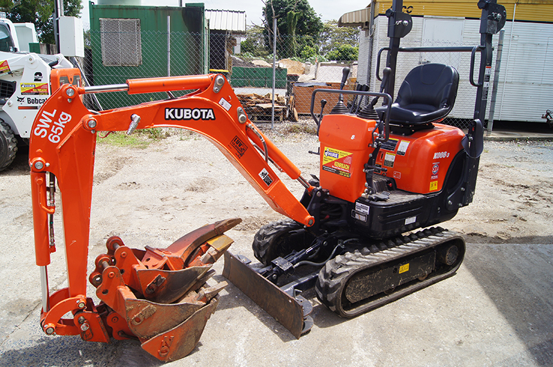 Small Excavator available for hire at Murwillumbah Hire and Kyogle Hire